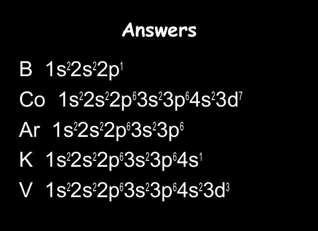 K Electron Configuration 2p6 3s2 3p6 K 1s2 2s2 2p6