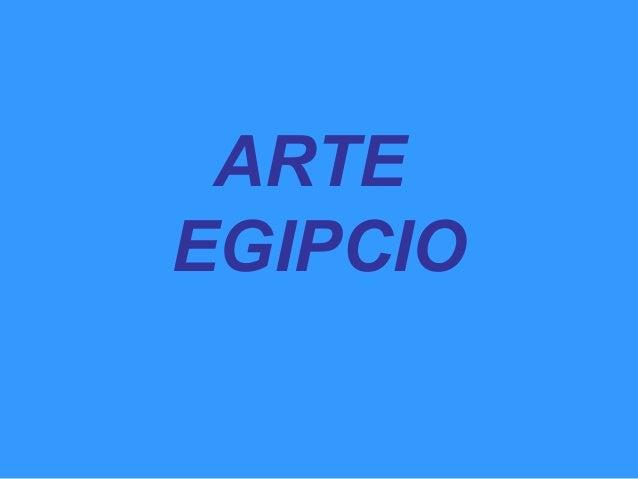 3.  Arte egipcio