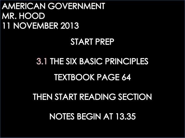ECOGOV: 3.1 THE SIX BASIC PRINCIPLES