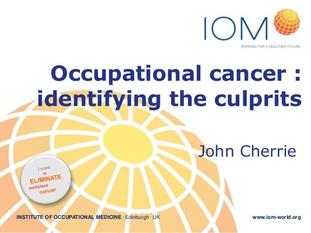 3. Occupational cancer burden  identifying the main culprits