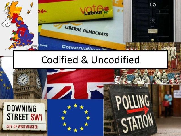 3. Codified & Uncodified Constitutions