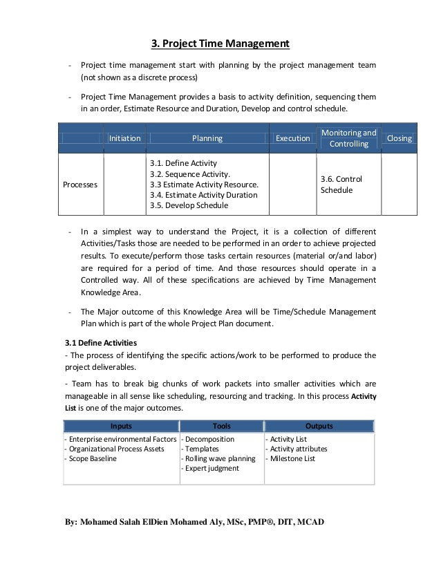 3. project time management