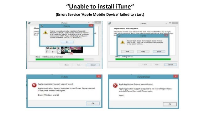 """Unable to install iTune"" (Error: Service 'Apple Mobile Device' failed to start)"