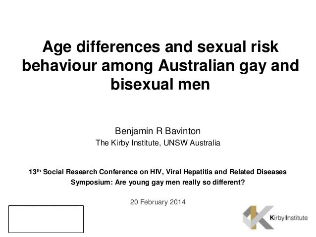 Age differences and sexual risk behaviour among Australian gay and bisexual men