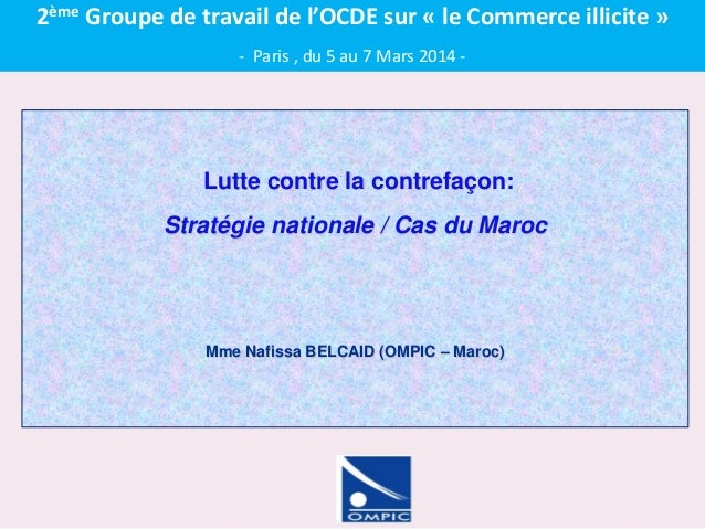 OECD, 2nd Task Force Meeting on Charting Illicit Trade - Nafissa BELCAID