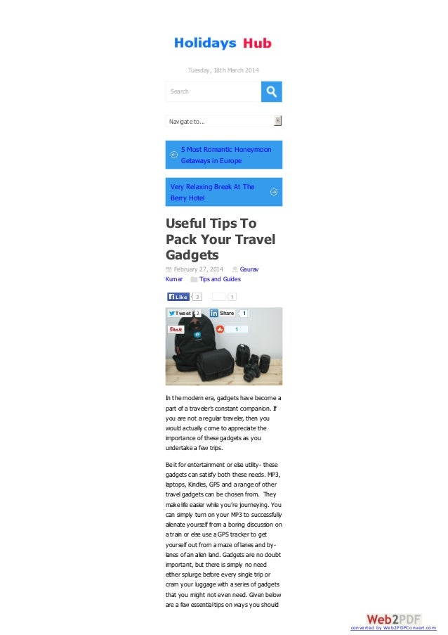 Useful Tips To Pack Your Travel Gadgets