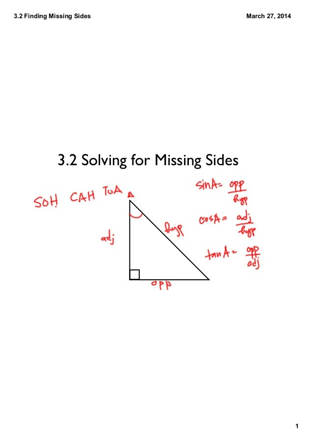 3.2 Finding Missing Angles