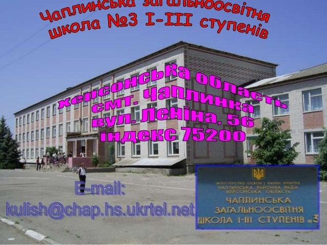 Чаплинська зош №3