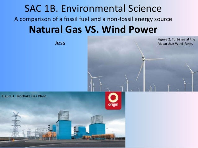 SAC 1B. Environmental Science A comparison of a fossil fuel and a non-fossil energy source Natural Gas VS. Wind Power Jess...