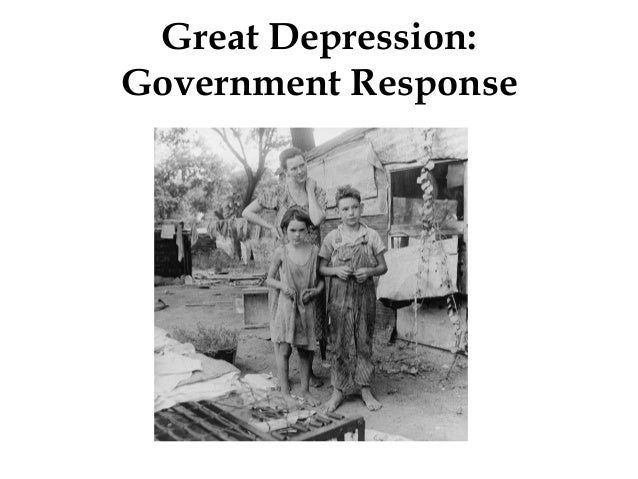 Great Depression: Government Response