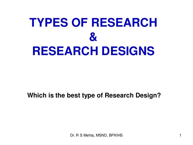 3. types of research study