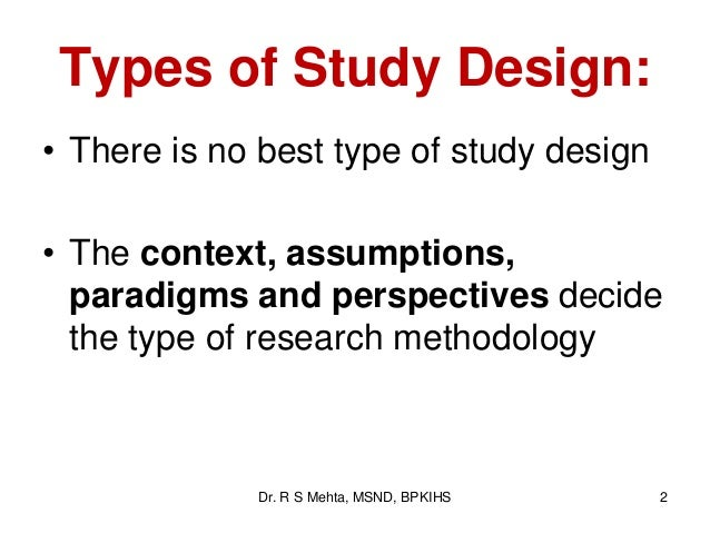 types of thesis research design