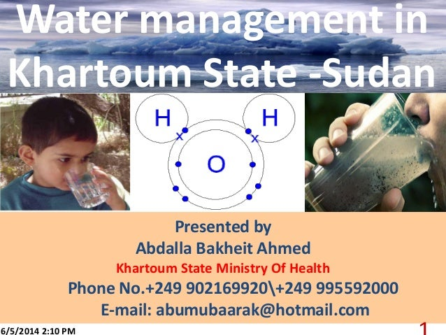 Presented by Abdalla Bakheit Ahmed Khartoum State Ministry Of Health Phone No.+249 902169920+249 995592000 E-mail: abumuba...