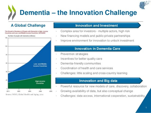 1 Dementia – the Innovation Challenge Innovation in Dementia Care Innovation and Investment Innovation and Big data - Prev...