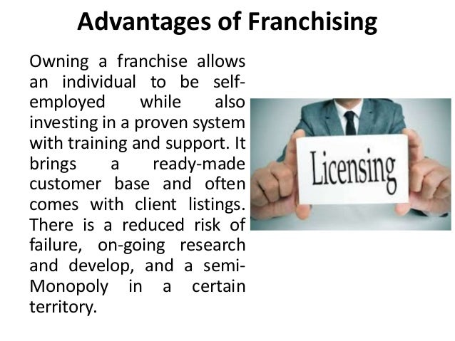 advantages and disadvantages of franchising commerce essay Franchise conclusion essays and i will be outlining the advantages and disadvantages of the commerce.