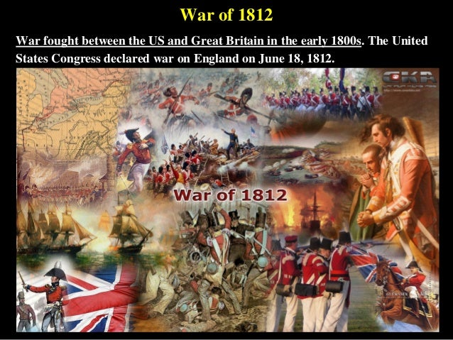 War Between War of 1812 War Fought Between