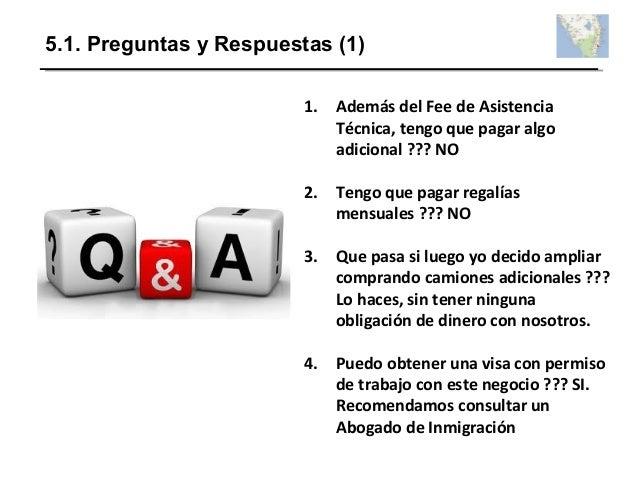 5.1. Preguntas y Respuestas (1) 1. Además del Fee de Asistencia Técnica, tengo que pagar algo adicional ??? NO 2. Tengo qu...