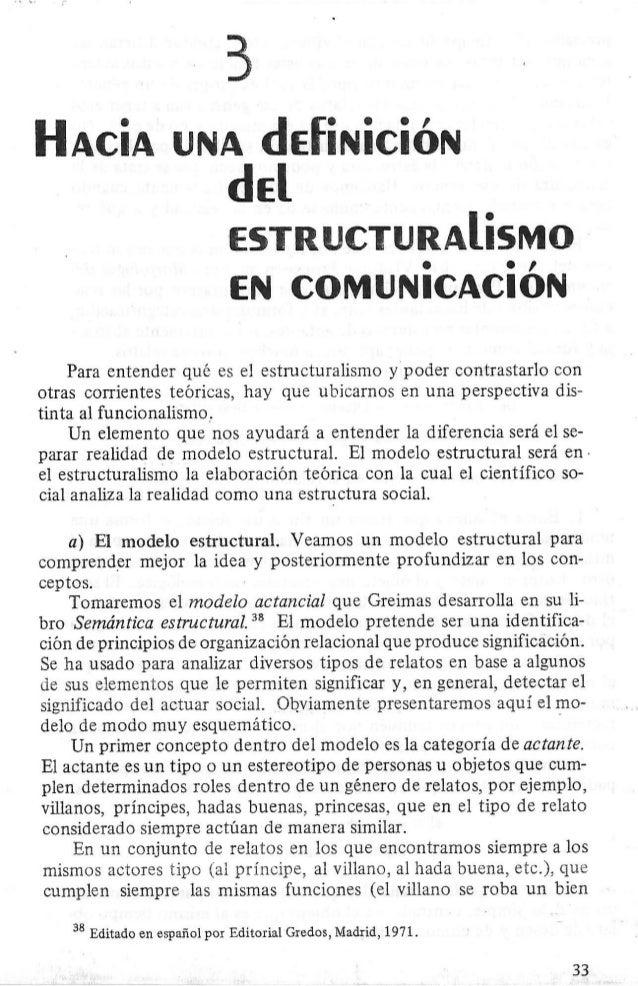 3.2 hacia una definicion del estructuralismo en comunicacion