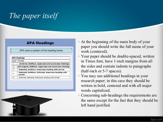 apa guidelines on research papers An apa, american psychological association, style is a standard of writing academic papers in a variety of subjects relevant to the social sciencesthis allows to write essays and research papers according to the same generally accepted standard in sociology, psychology, education, political science, business and other disciplines.