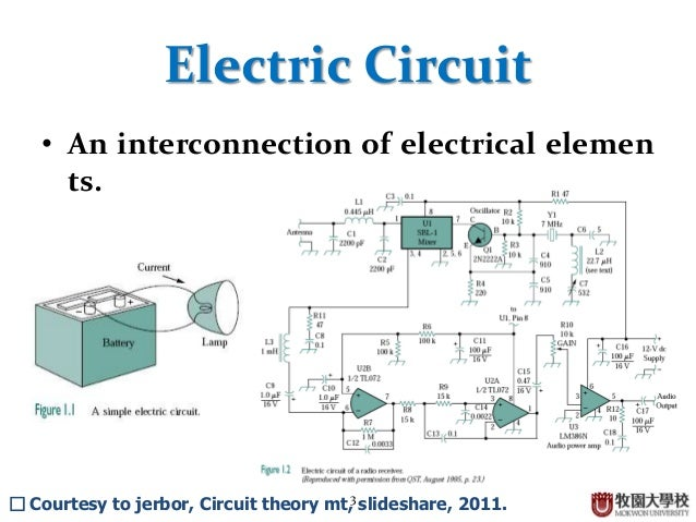 Where to find something about basic circuit theory?