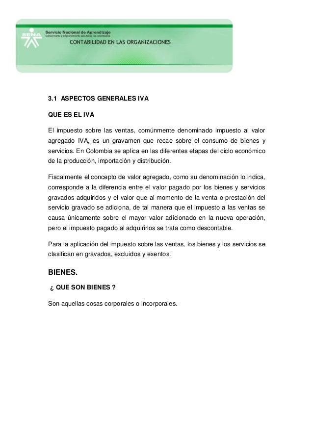 3.1 aspectos generales impuesto al valor agregado   iva