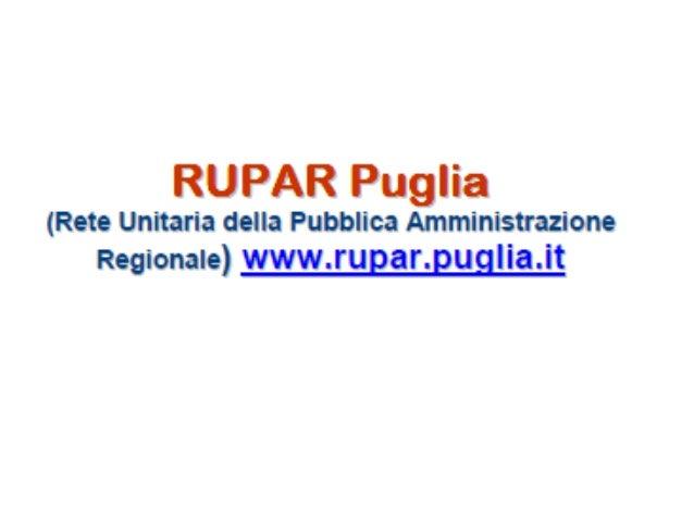 Progetto Rupar Puglia
