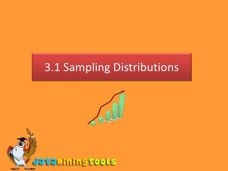 3.1 Sampling Distributions