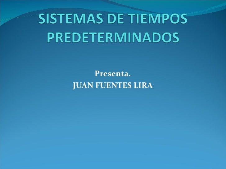 3.1 sistemas de tiempos predeterminados