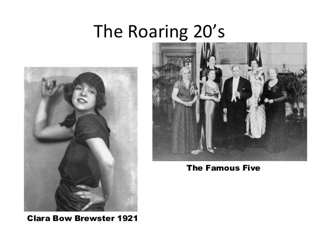 The Roaring 20's  The Famous Five  Clara Bow Brewster 1921