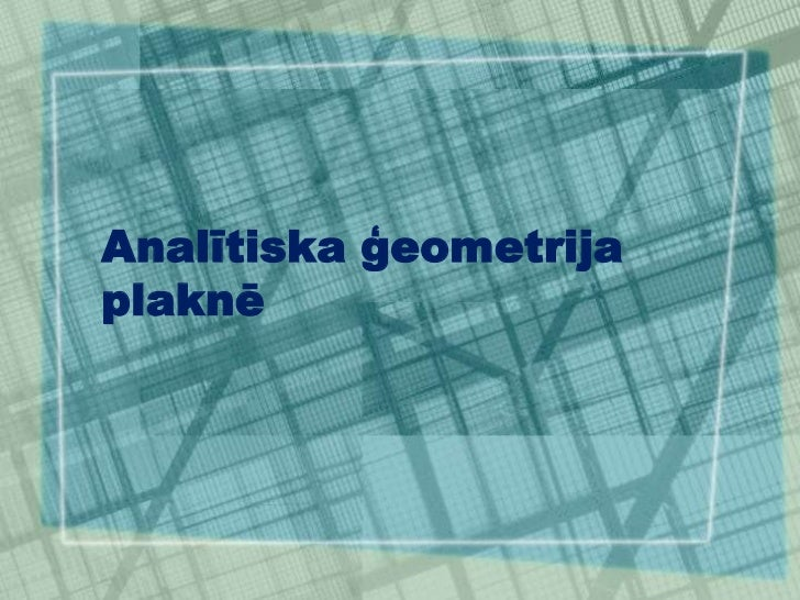 3.2.analiitiska geometrija