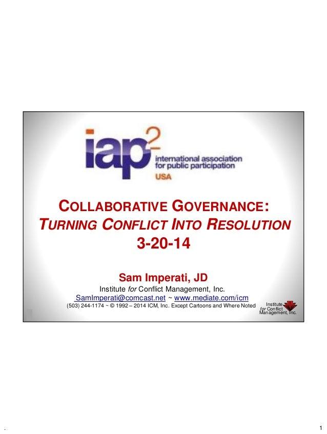 Teaching Collaborative Governance ~ Collaborative governance sam imperati