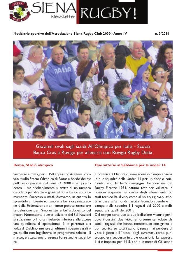 Newsletter Siena Rugby 3 2014