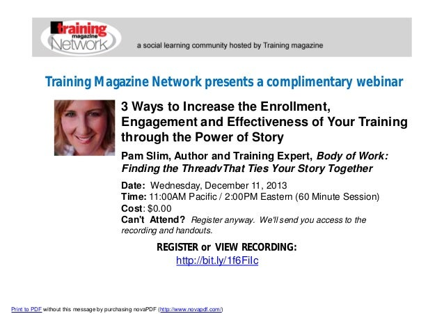 3 ways to increase the enrollment, engagement and effectiveness of your training through the power of story