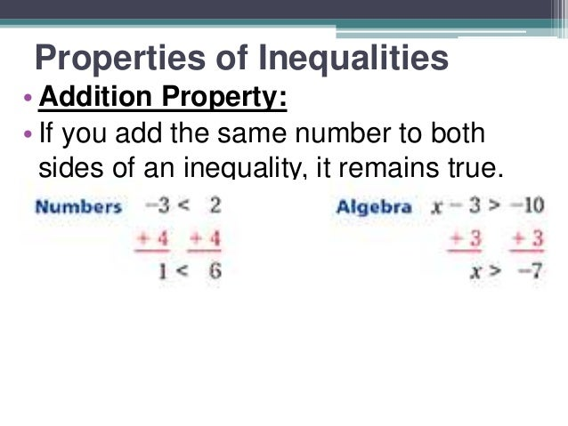 Properties of inequality