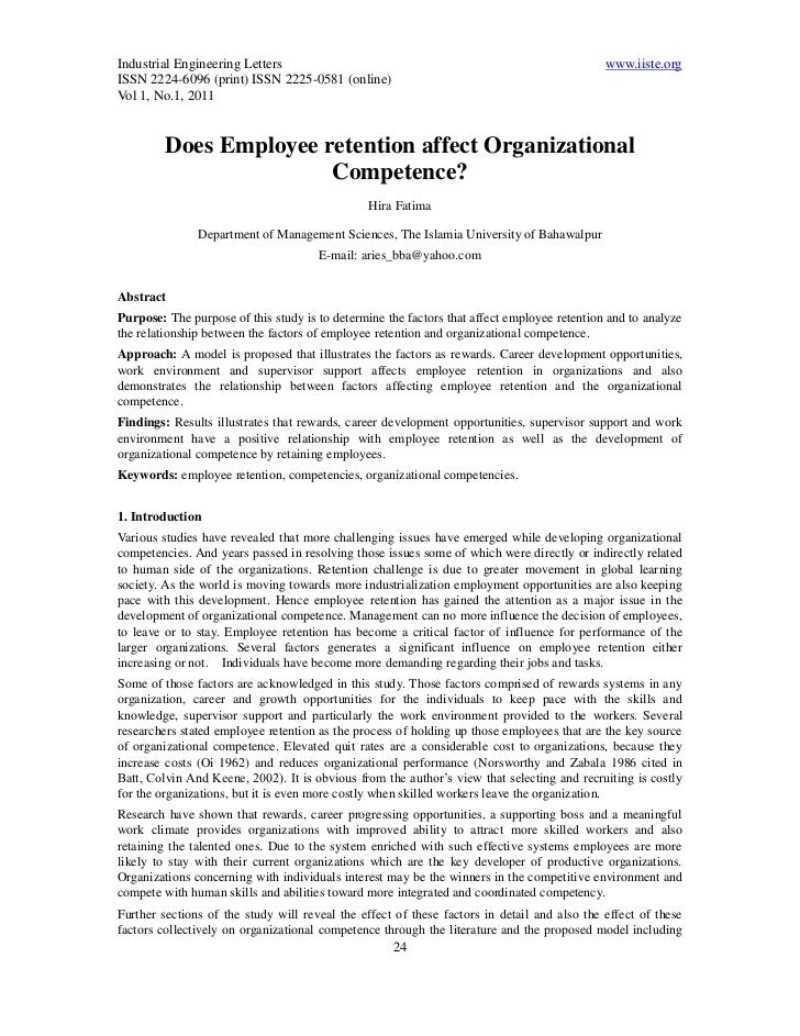 3.[24 39]does employee retention affect organizational competence