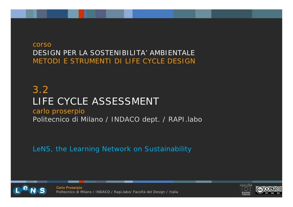 3.2 Life Cycle Assessment