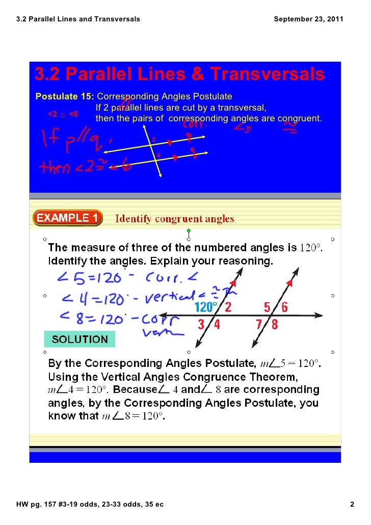 Corresponding Angles Are Congruent 15 Corresponding Angles