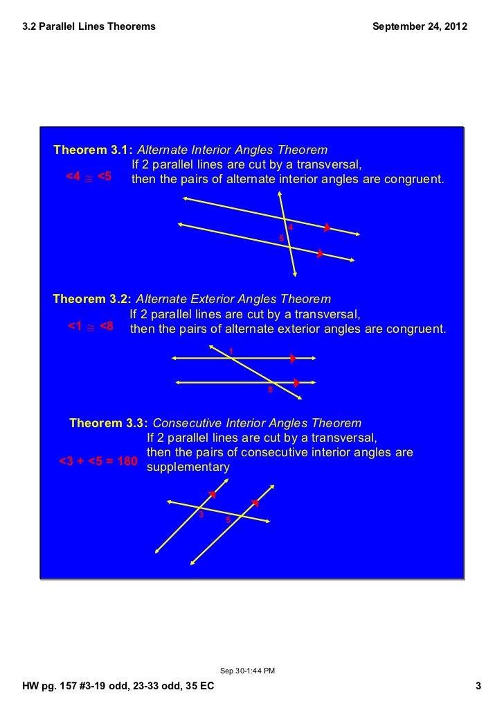 Alternate Interior Angles And Alternate Exterior Angles Alternate Interior Angles