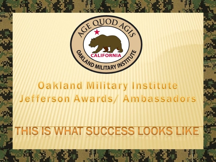 Oakland Military Institute - 2010 Jefferson Awards Students In Action Presentation