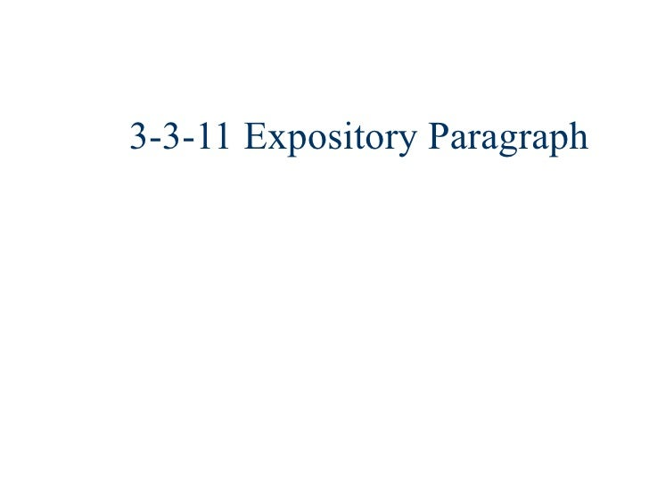 3-3-11 Expository Paragraph