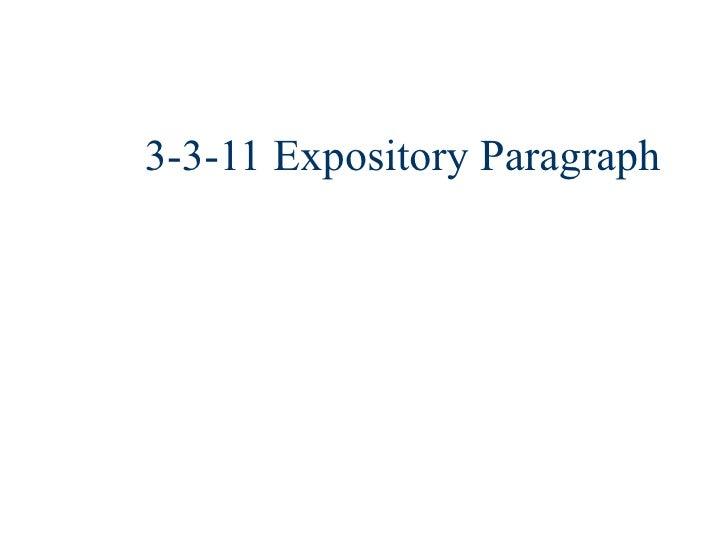3 3 11 Paragraph Intro