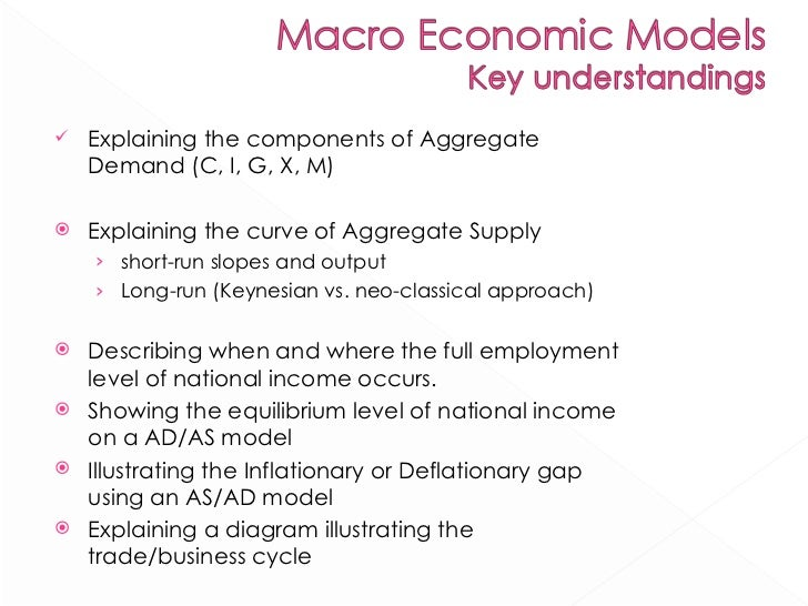 macro-economic conditions and the business cycle essay The existence of a business cycle can be best observed in the number of people who are laid off and have a difficult time to find a job during peak periods of economic activity, this is less likely to happen.
