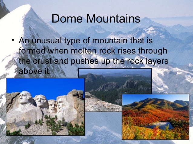 dome mountains formation