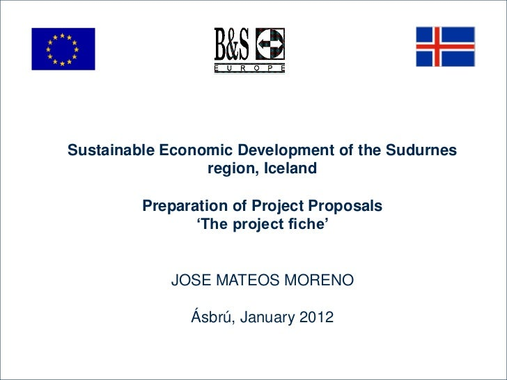 Sustainable Economic Development of the Sudurnes                 region, Iceland         Preparation of Project Proposals ...