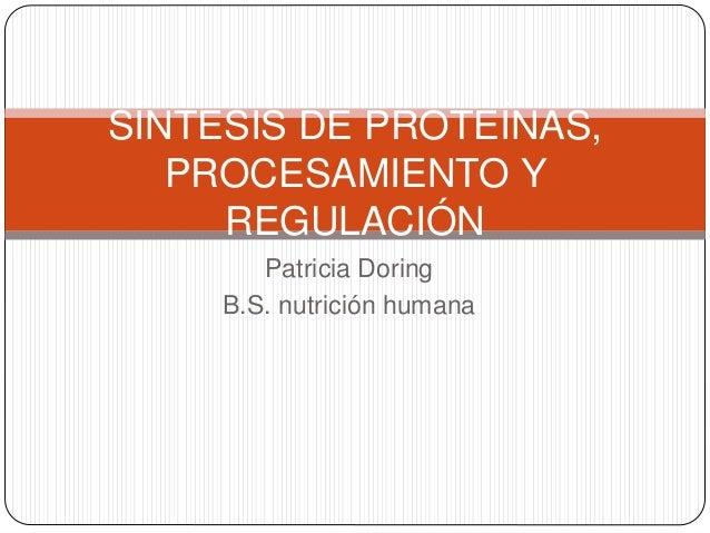 Sintesis de proteínas