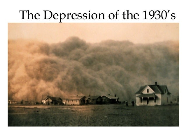The Depression of the 1930's