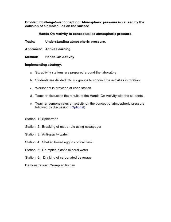 3.3 Understanding Pressure And Atmospheric Pressure