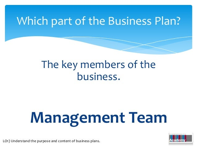Developing business plans