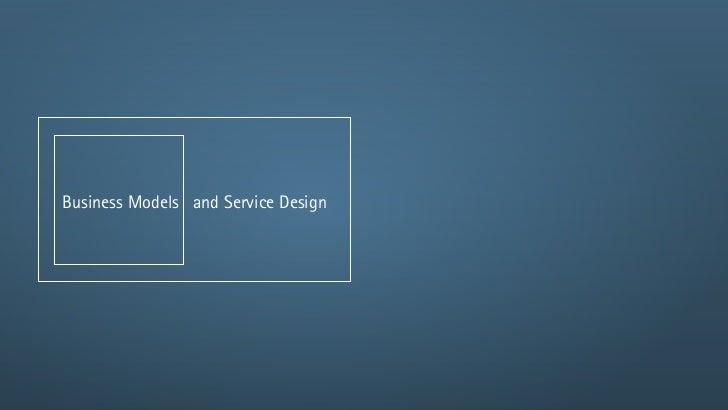 SDOA 3.4 Business Models and Service Design