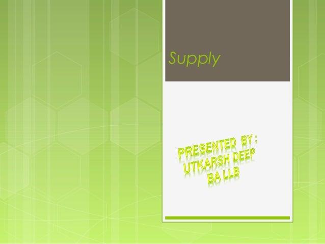 economics supply